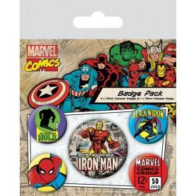 Marvel Comics pack 5 badges Iron Man
