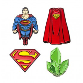 DC Comics pack 4 pin's Superman
