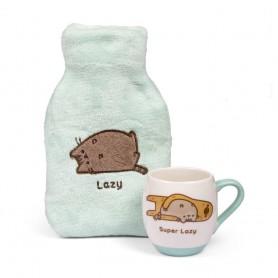 Pusheen bouillotte & mug Super Lazy