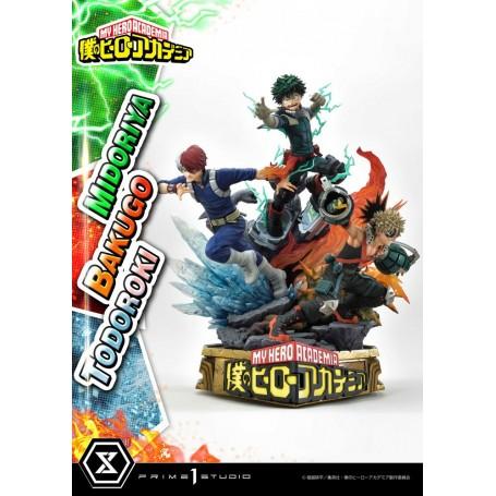 My Hero Academia statuette Midoriya, Bakugo & Todoroki 69 cm