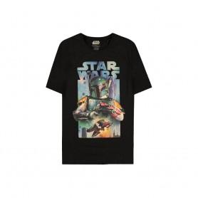 Star Wars T-Shirt Boba Fett Poster (L)
