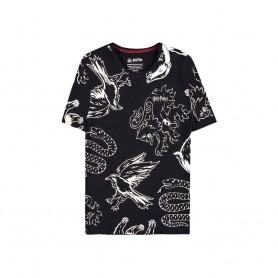 Harry Potter T-Shirt Heraldic Animals WB AOP (M)